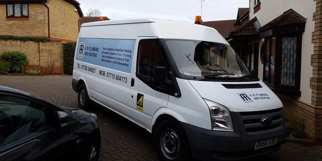 AR Plumbing & Heating van